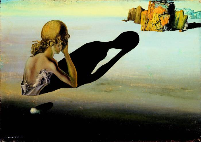 Salvador Dalí (Spanish, 1904-1989). Remorse or Sphinx Embedded in the Sand, 193