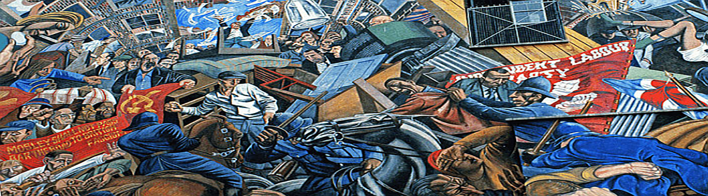 Mural depicting the Battle of Cable Street, 4 October 1936