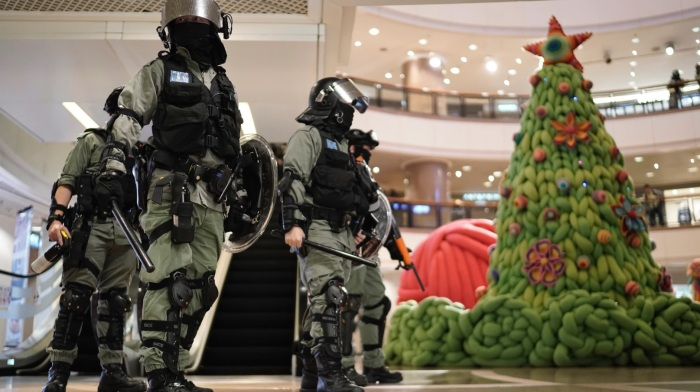 Not a Silent Night: Hong Kong Protesters Clash With Riot Police in Crowded Shopping Malls